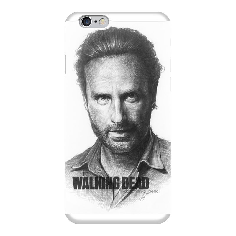 Чехол для iPhone 6 глянцевый Printio The walking dead rick grimes andrew lincoln худи print bar the walking dead