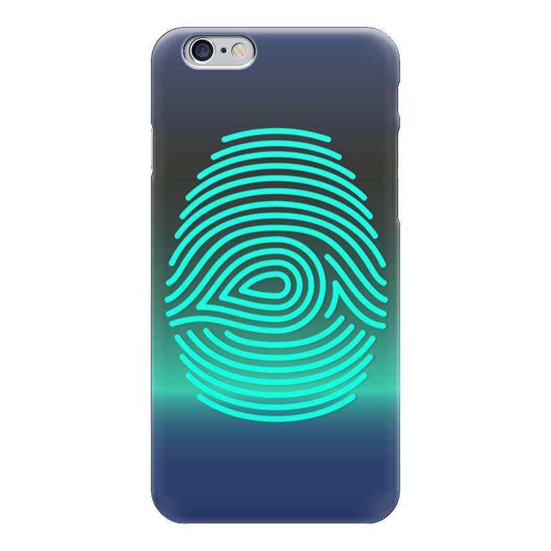 Чехол для iPhone 6 глянцевый Printio Отпечаток пальца чехол для карточек цветные совы на синем фоне дк2017 112