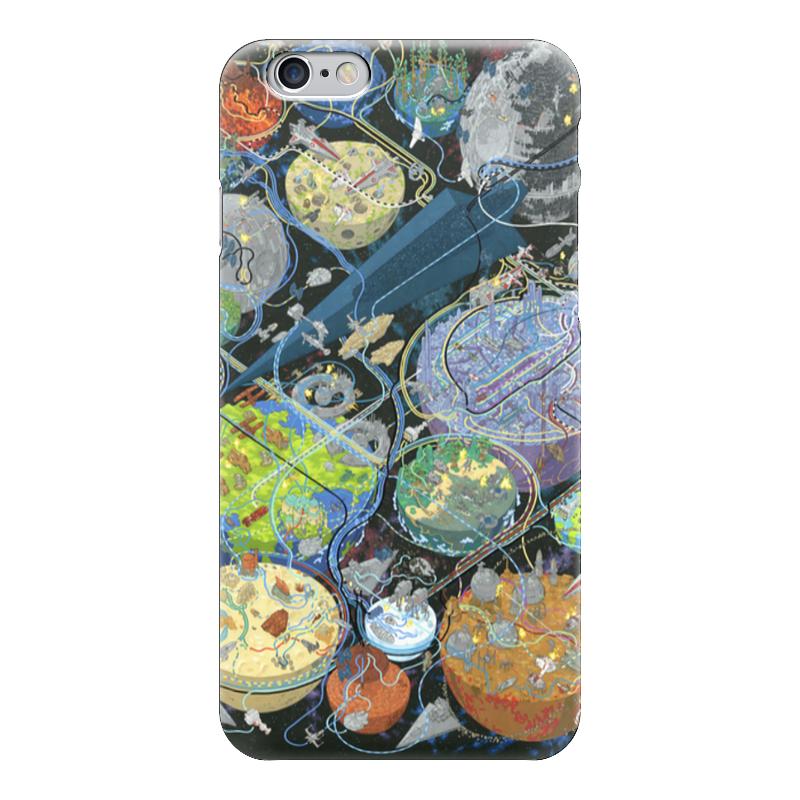Чехол для iPhone 6 глянцевый Printio All star wars planets planets