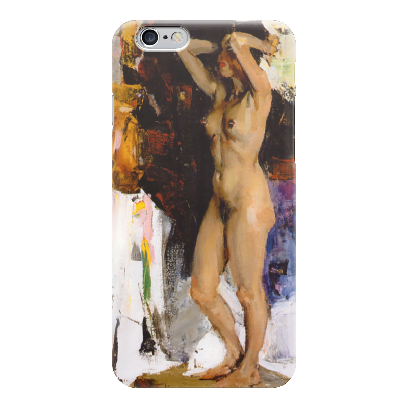 Чехол для iPhone 6 глянцевый Printio Стоящая обнаженная модель