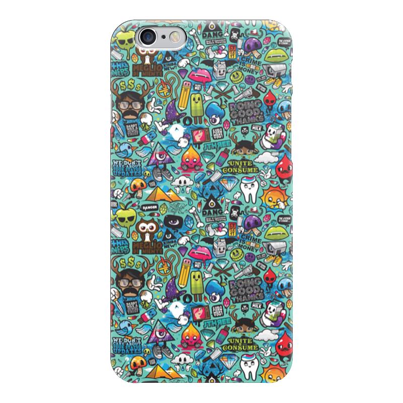 Чехол для iPhone 6 глянцевый Printio Стикеры