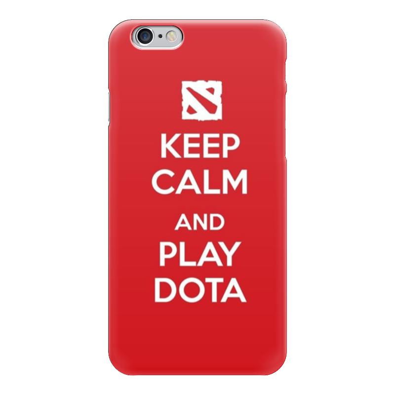 Чехол для iPhone 6 глянцевый Printio Keep calm and play dota sahar cases чехол keep calm and love me iphone 5 5s 5c