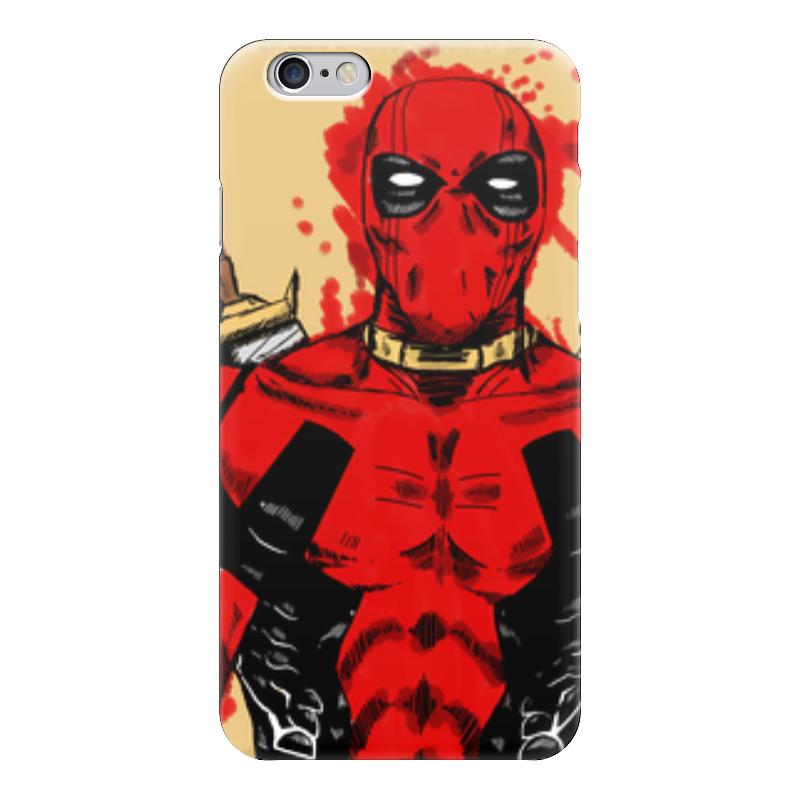 Чехол для iPhone 6 глянцевый Printio Deadpool чехол для iphone 6 глянцевый printio kids paint