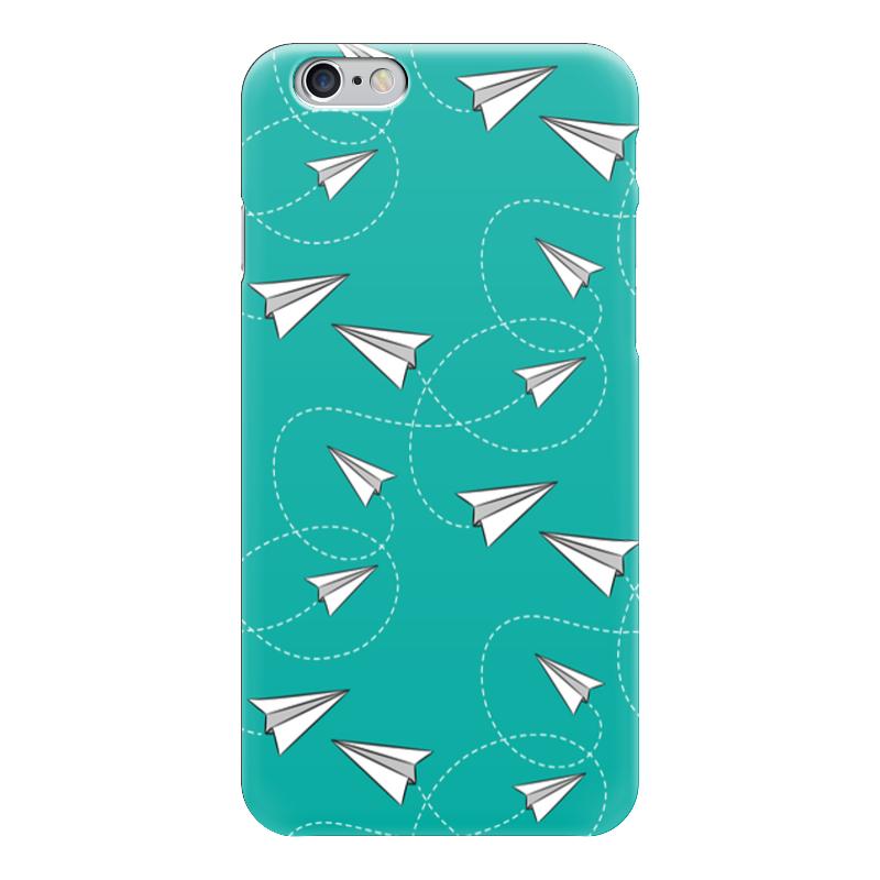 Чехол для iPhone 6 глянцевый Printio Бумажные самолетики