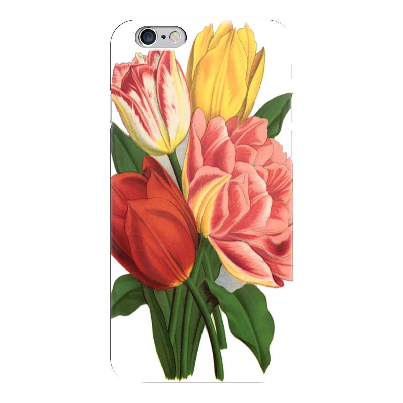Чехол для iPhone 6 глянцевый Printio Тюльпаны какой iphone лучше для россии