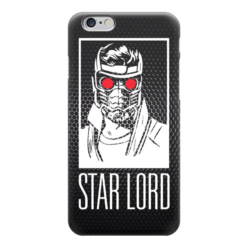 Чехол для iPhone 6 глянцевый Printio Star lord (стражи галактики)