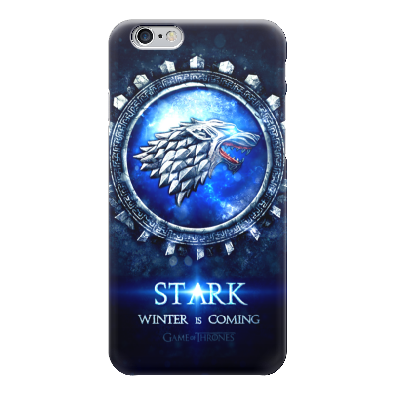 Чехол для iPhone 6 глянцевый Printio Stark is coming (game of thrones) game of thrones casual shoes women house stark winter is coming printed summer style superstar graffiti canvas shoes big size