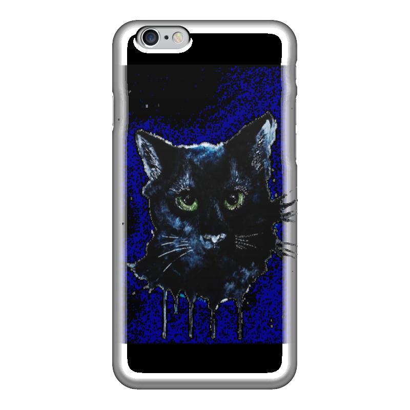 Чехол для iPhone 6 глянцевый Printio Чёрная кошка iphone 6