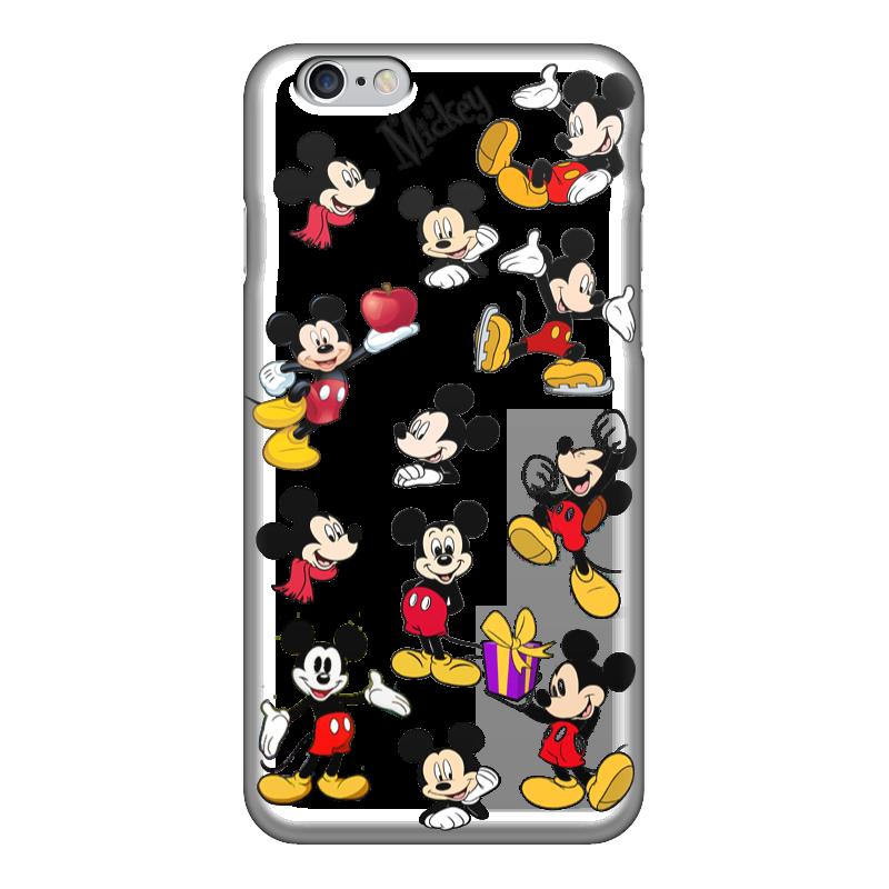 Чехол для iPhone 6 глянцевый Printio Микки маус. игрушка для животных каскад удочка с микки маусом 47 см