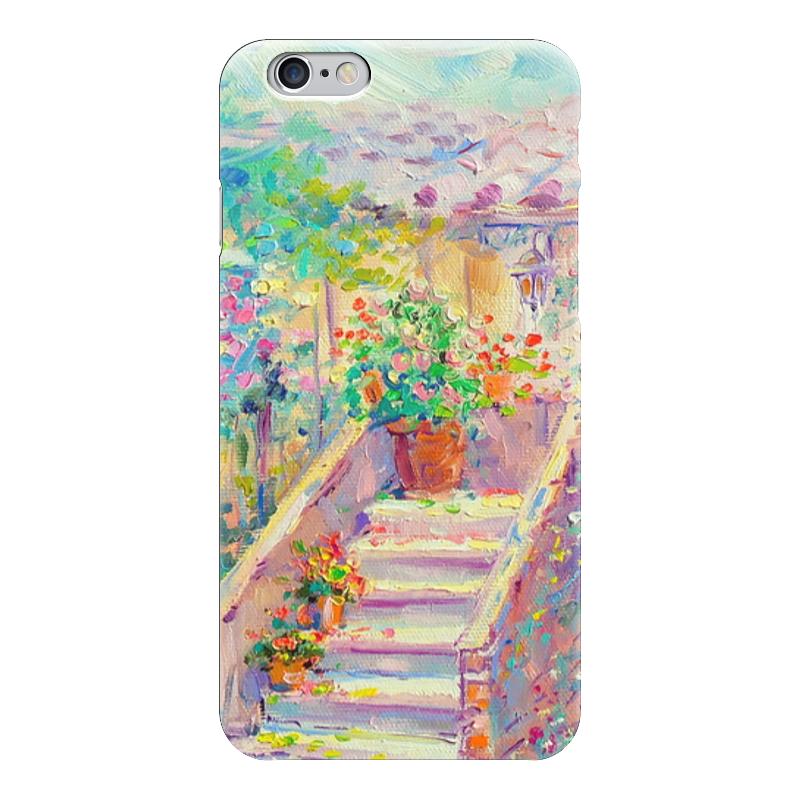 Чехол для iPhone 6 глянцевый Printio Цветущий двор чехол для iphone 6 глянцевый printio сад на улице корто сад на монмартре ренуар