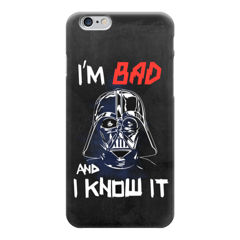 Чехол для iPhone 6 глянцевый Printio I'm bad and i know it (starwars) кружка printio i drink and i know things