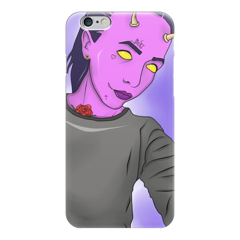 Чехол для iPhone 6 глянцевый Printio Pink devil стоимость