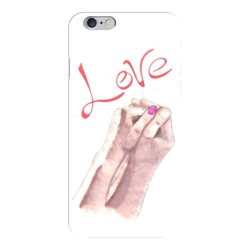 Чехол для iPhone 6 глянцевый Printio Love! чехлы для телефонов with love moscow силиконовый дизайнерский чехол для meizu m3s перья