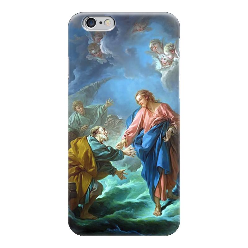 Чехол для iPhone 6 глянцевый Printio Святой петр, пробующий идти по воде