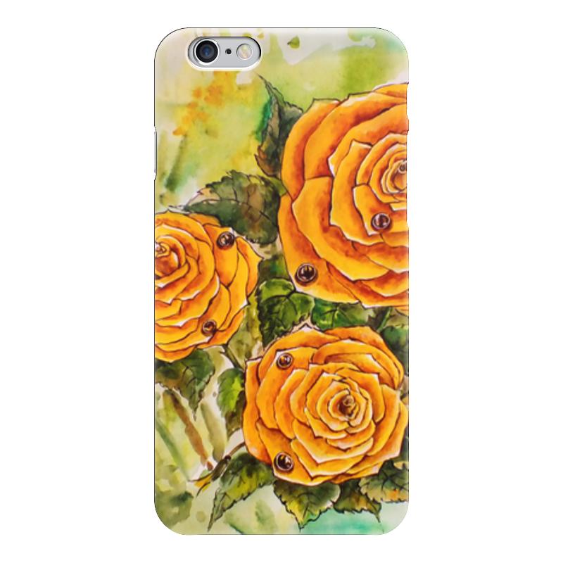 Чехол для iPhone 6 глянцевый Printio Жёлтая роза пламенная роза тюдоров