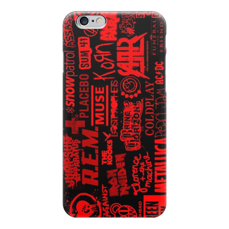 Чехол для iPhone 6 глянцевый Printio Рок (rock) чехол для iphone 6 глянцевый printio iron maiden band