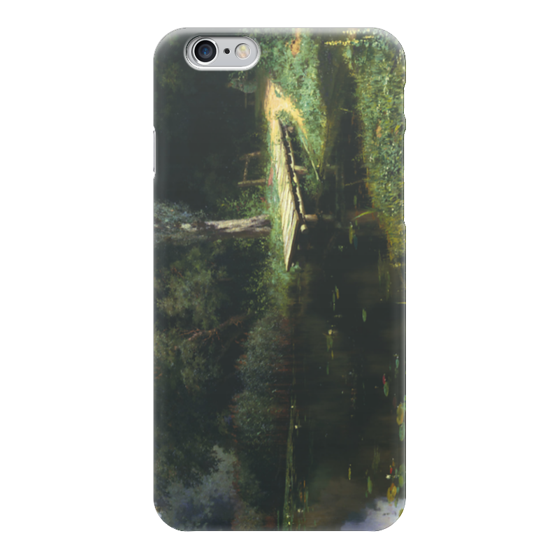 Чехол для iPhone 6 глянцевый Printio Заросший пруд (картина поленова) пруд садовый в екатеринбурге