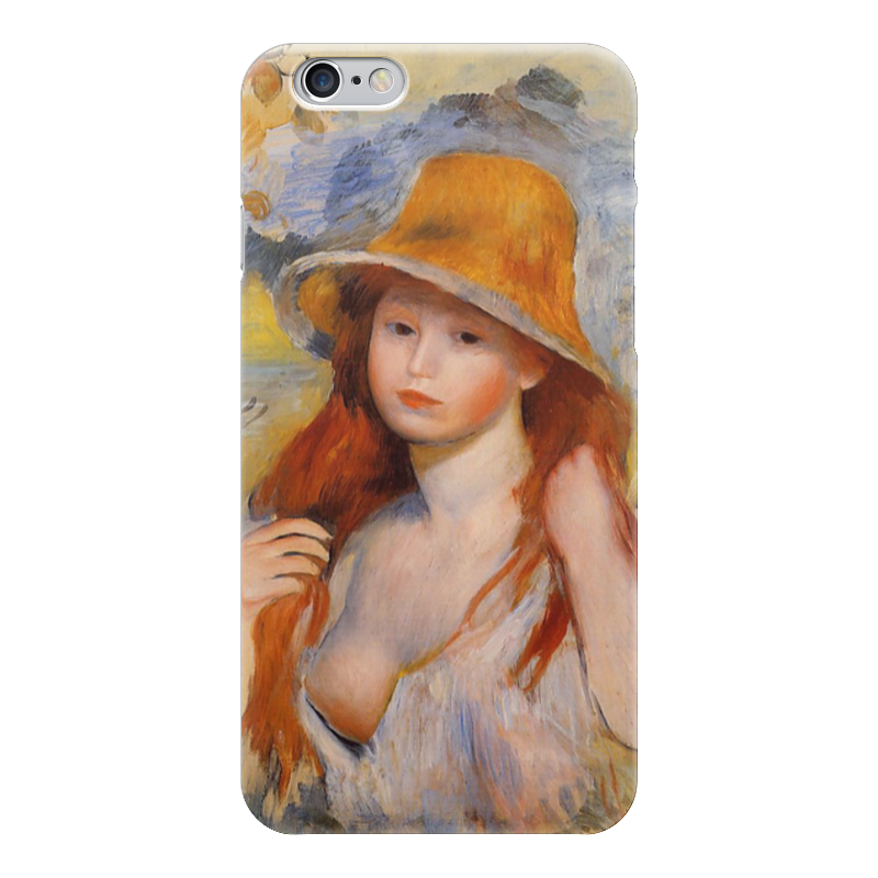 Чехол для iPhone 6 глянцевый Printio Молодая женщина в соломенной шляпе чехол для iphone 5 глянцевый с полной запечаткой printio влюбленные пьер огюст ренуар
