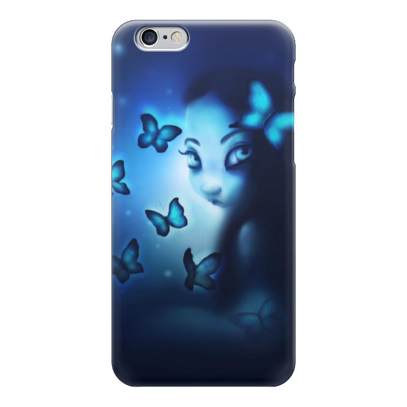 Чехол для iPhone 6 глянцевый Printio Блю морфо чехол для карточек пионы на синем фоне дк2017 113