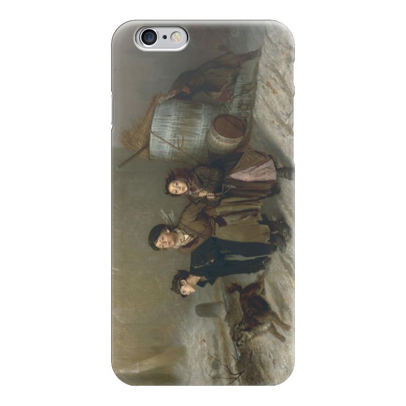 Чехол для iPhone 6 глянцевый Printio Тройка (картина василия перова) теплые комбинезоны тройка для детей