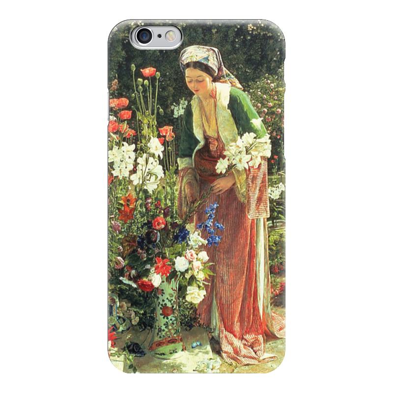 все цены на Чехол для iPhone 6 глянцевый Printio В саду бейс (картина джона льюиса) онлайн