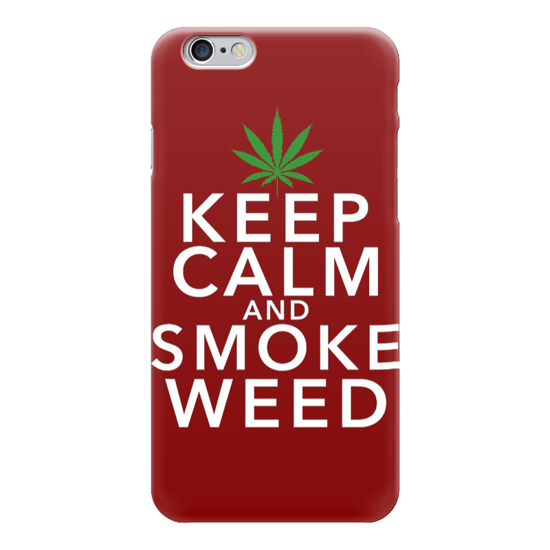 все цены на Чехол для iPhone 6 глянцевый Printio Smoke marijuana онлайн