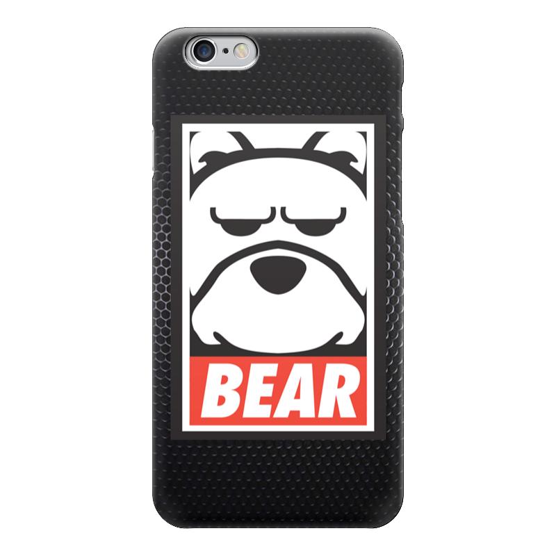 купить Чехол для iPhone 6 глянцевый Printio Мишка (bear, obey) по цене 1280 рублей