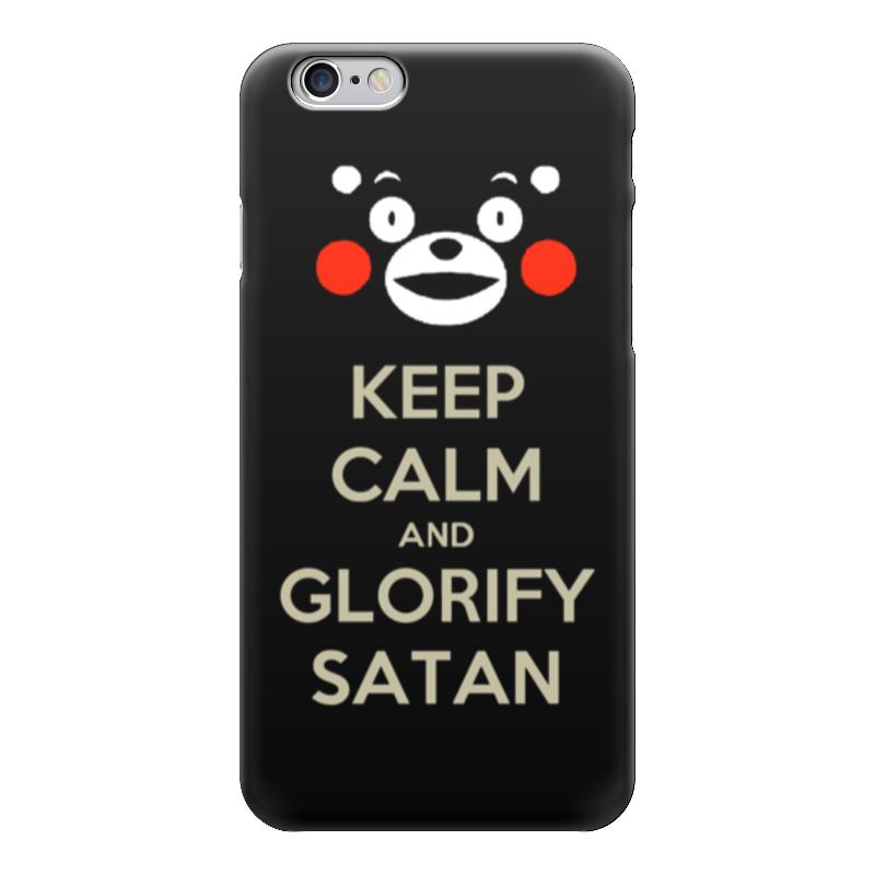 Чехол для iPhone 6 глянцевый Printio Keep calm and glorify satan футболка wearcraft premium printio keep calm