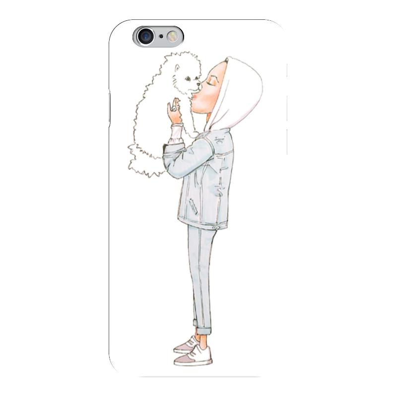 Чехол для iPhone 6 глянцевый Printio Девушка с собачкой статуэтка клоун с собачкой 935660