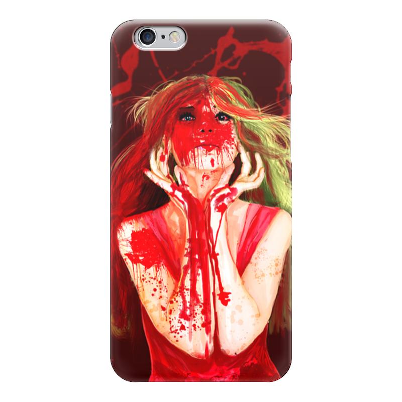 Чехол для iPhone 6 глянцевый Printio Девушка, которая обожает вишню )
