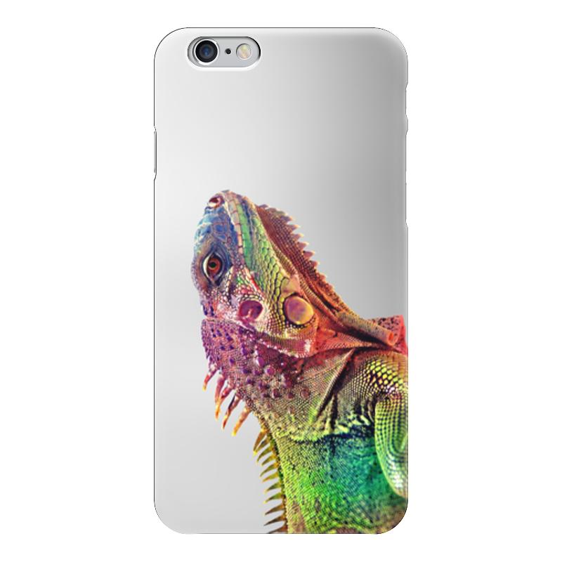 Чехол для iPhone 6 глянцевый Printio Хамелеон чехол для карточек хамелеон с узорами дк2017 111