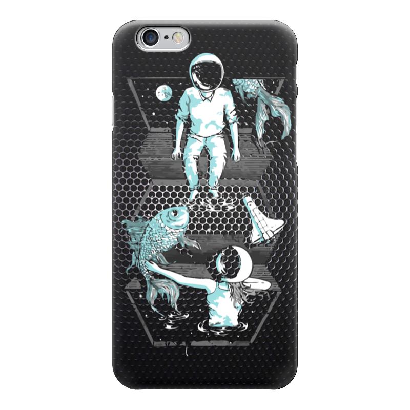 все цены на Чехол для iPhone 6 глянцевый Printio Космонавт онлайн