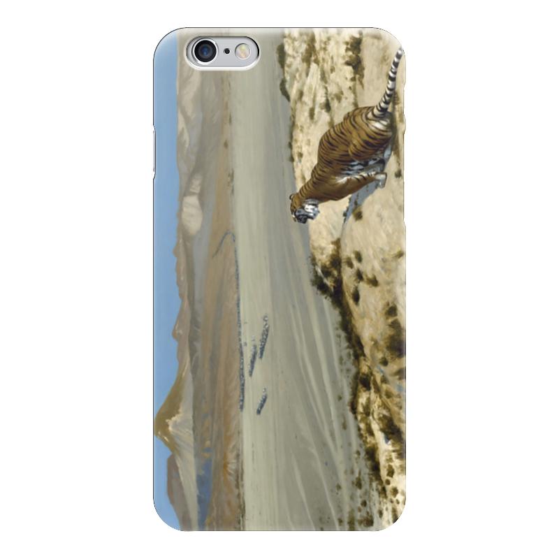 Чехол для iPhone 6 глянцевый Printio Наблюдающий тигр (жан-леон жером) обложка для паспорта printio жан рено леон