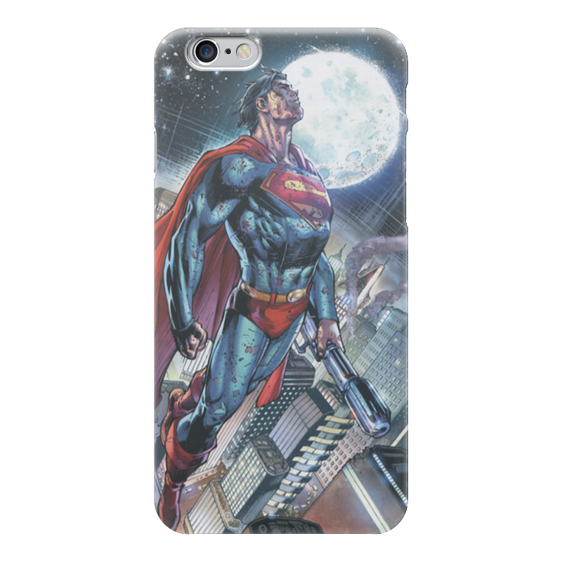 Чехол для iPhone 6 глянцевый Printio Супермен (superman) protective cartoon silicone back case for iphone 4 4s red white