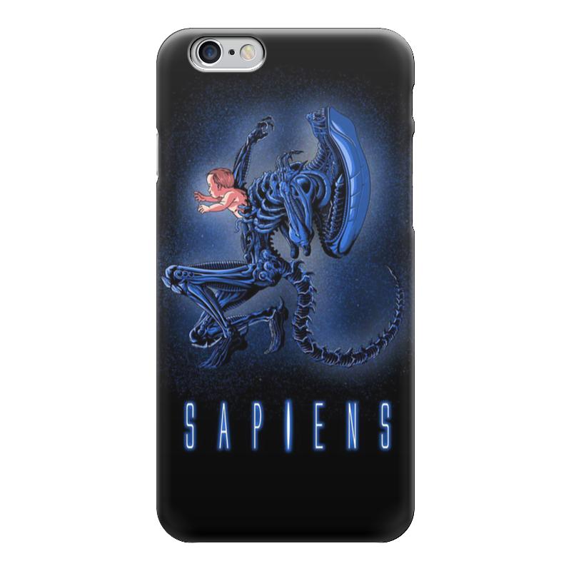 Чехол для iPhone 6 глянцевый Printio Aliens - sapiens толстовка с полной запечаткой printio aliens sapiens