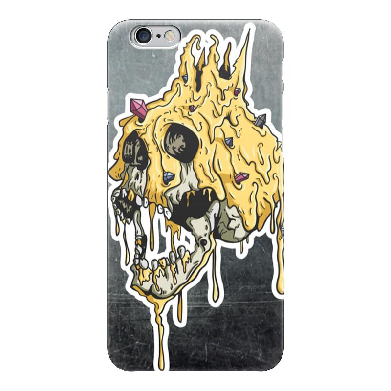 Чехол для iPhone 6 глянцевый Printio Gold skull цена и фото