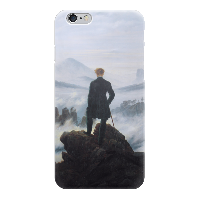 Чехол для iPhone 6 глянцевый Printio Странник над морем тумана (каспар фридрих) купить аксессуары для водяного тумана