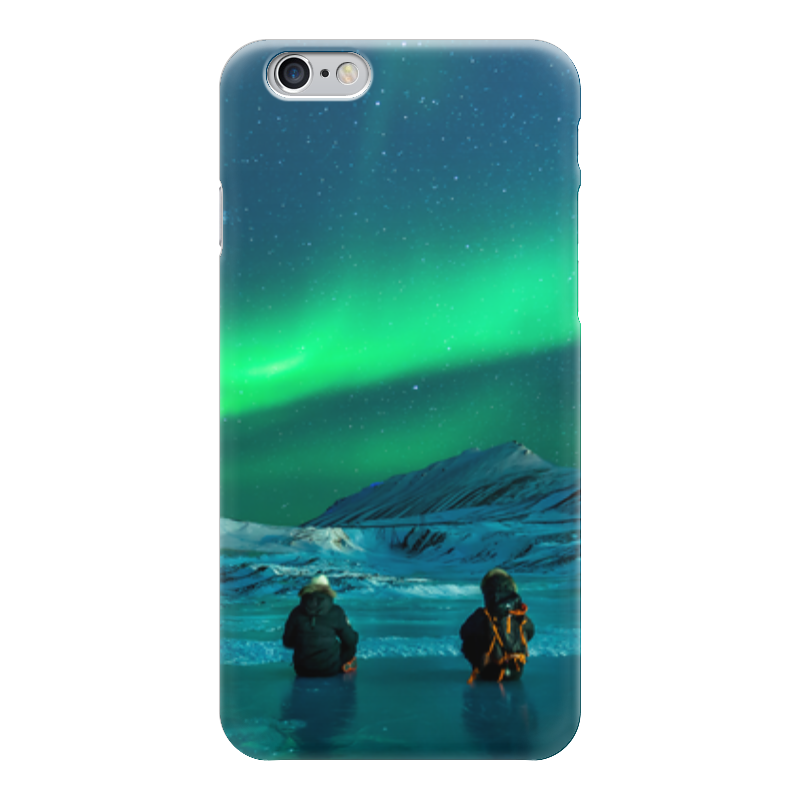 Чехол для iPhone 6 глянцевый Printio Северное сияние гирлянда холодный цвет северное сияние