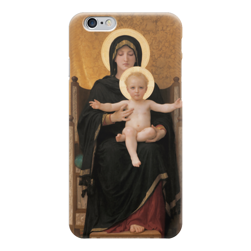 Чехол для iPhone 6 глянцевый Printio Мадонна (картина бугро) чехол для iphone 6 глянцевый printio купальщица вильям бугро