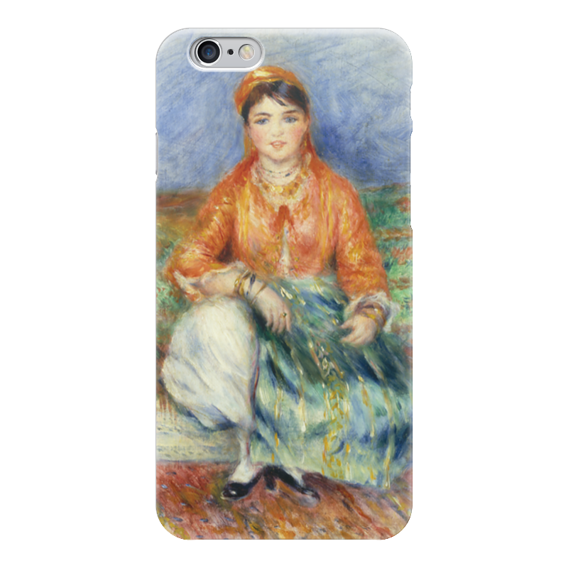 Чехол для iPhone 6 глянцевый Printio Алжирская девушка (картина ренуара) чехол для iphone 5 глянцевый с полной запечаткой printio влюбленные пьер огюст ренуар