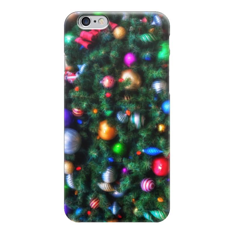 Чехол для iPhone 6 глянцевый Printio Нарядная елка (живопись)