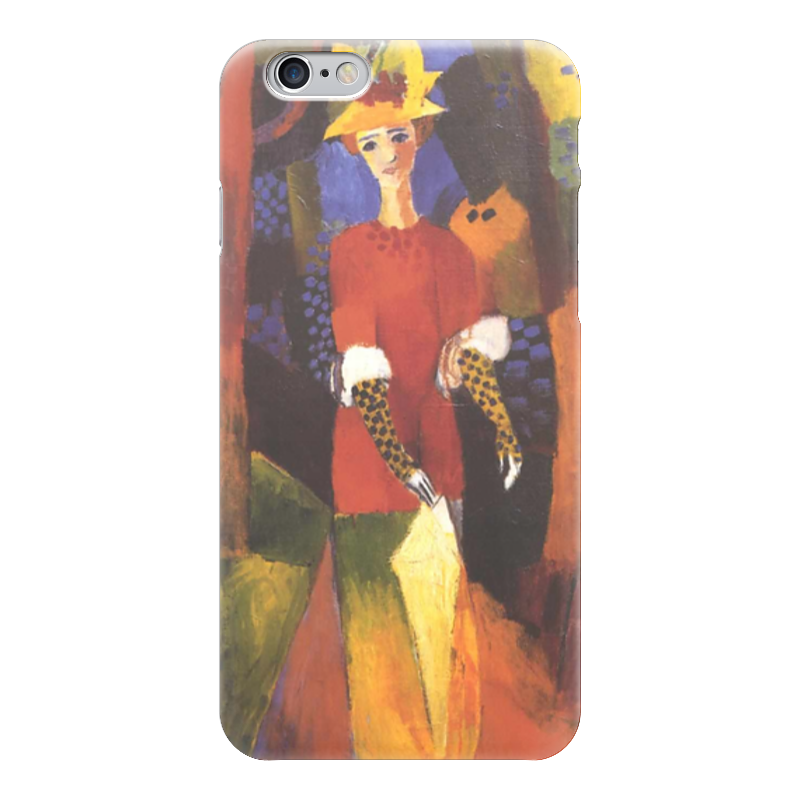 Чехол для iPhone 6 глянцевый Printio Женщина в парке (август маке) чехол для iphone 4 глянцевый с полной запечаткой printio шляпный магазин август маке
