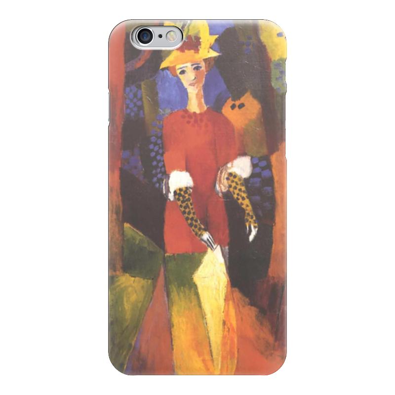 Чехол для iPhone 6 глянцевый Printio Женщина в парке (август маке)