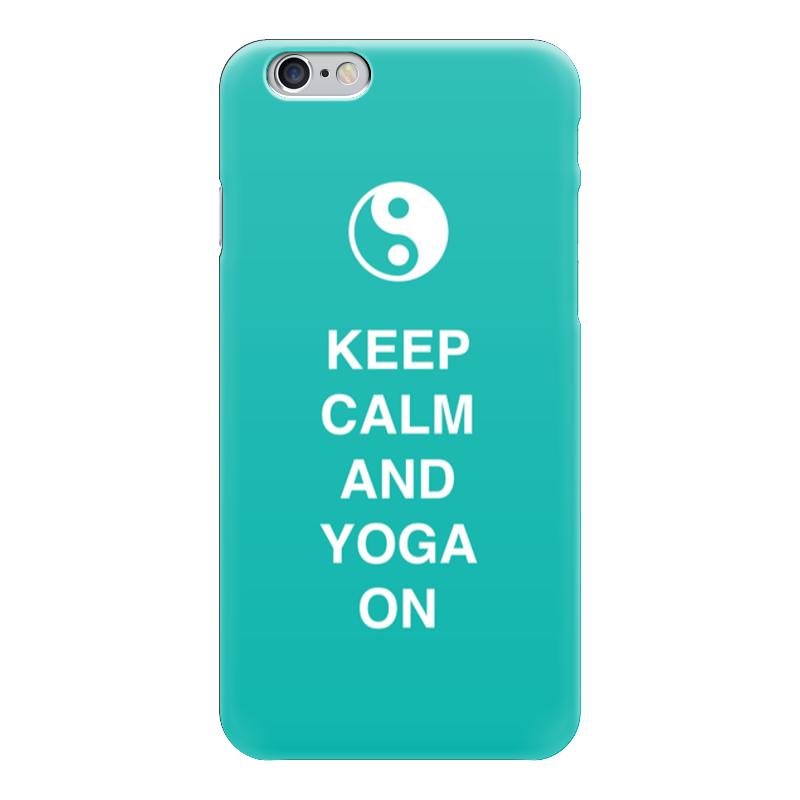Чехол для iPhone 6 глянцевый Printio Keep calm and yoga on тетрадь на пружине printio keep calm and yoga on
