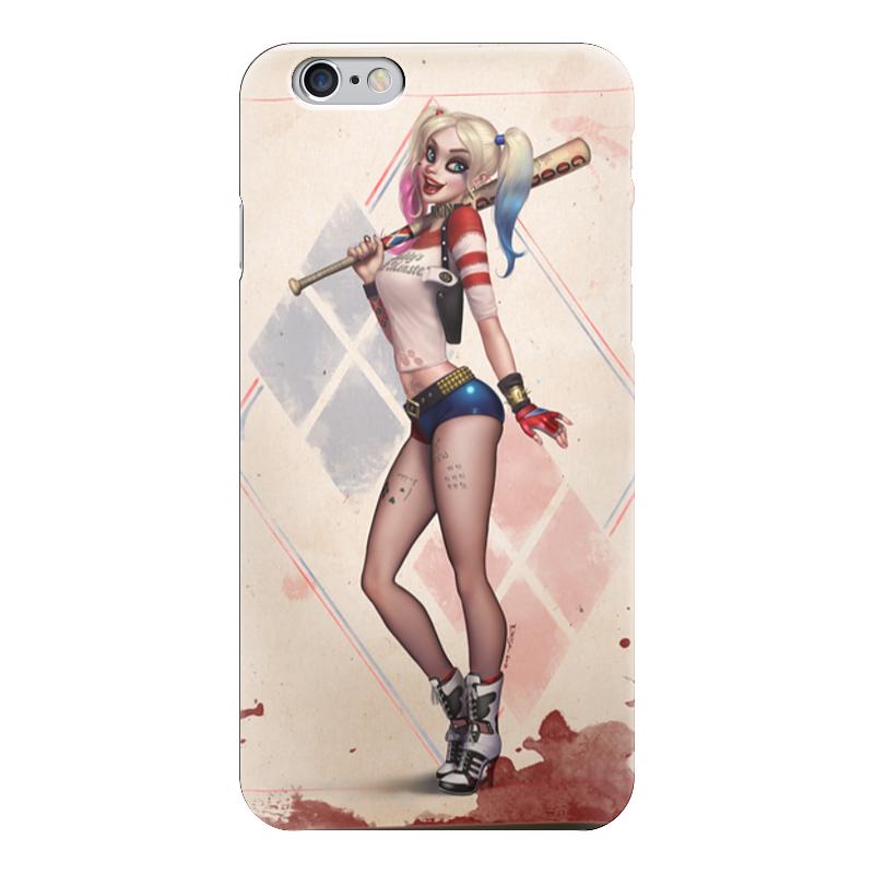 Чехол для iPhone 6 глянцевый Printio Harley queen