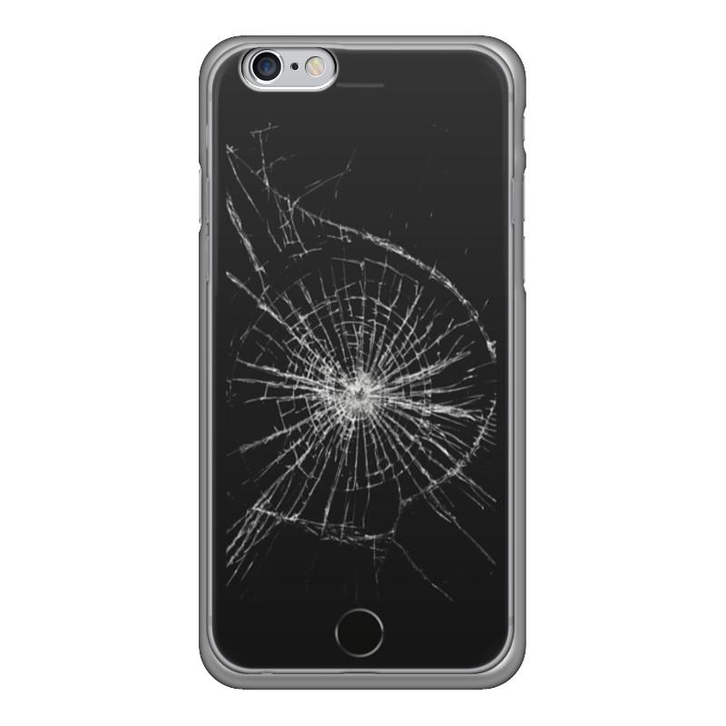 Чехол для iPhone 6 глянцевый Printio Разбитый экран купить экран для iphone 4
