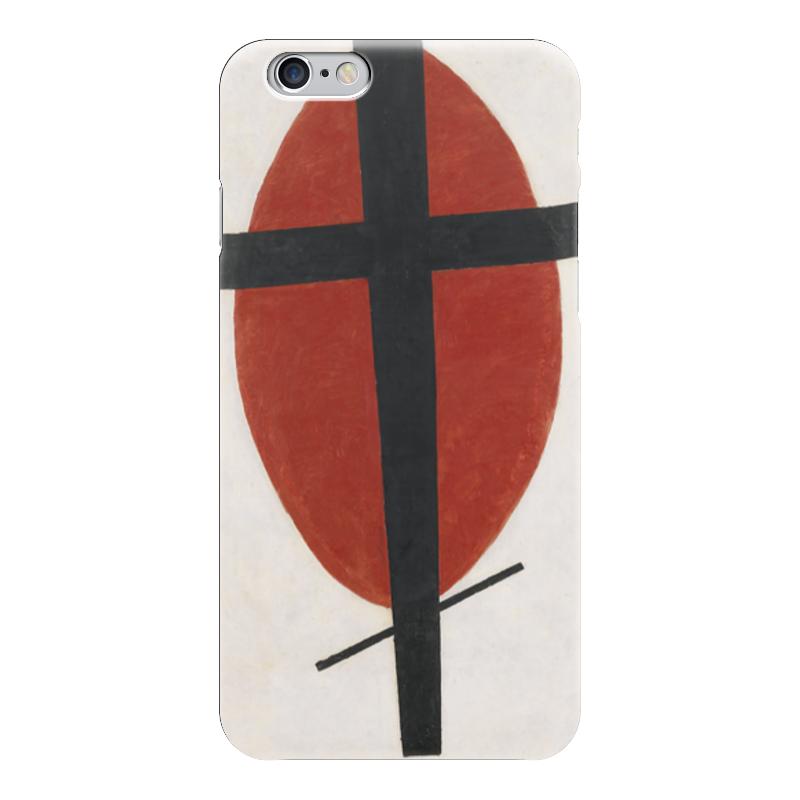 Чехол для iPhone 6 глянцевый Printio Супрематизм (черный крест на красном овале) чехол для iphone 6 глянцевый printio армянский крест