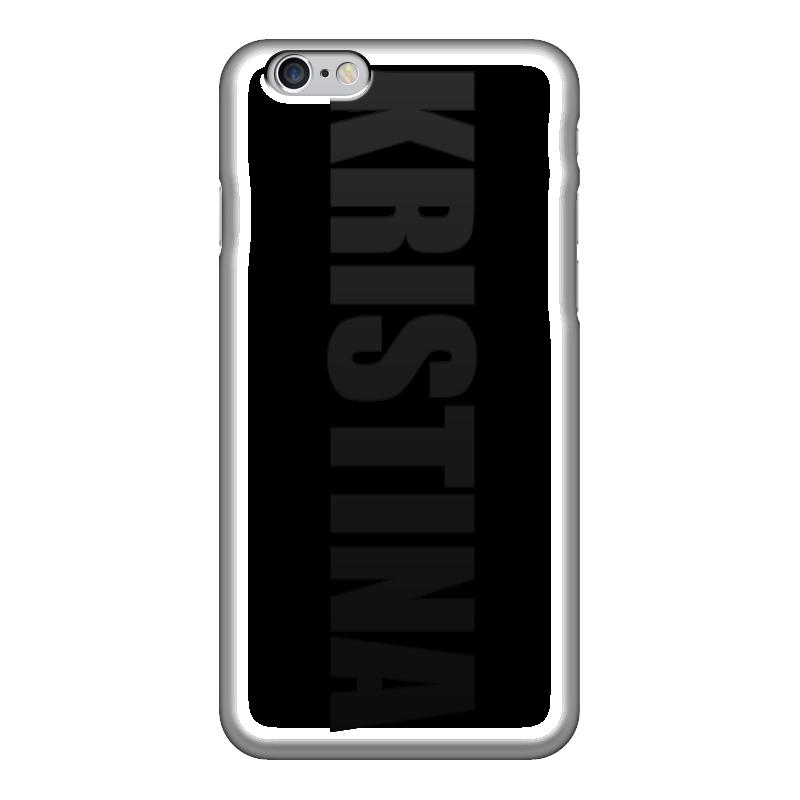 Чехол для iPhone 6 глянцевый Printio С именем кристина чехол для iphone 5 printio с именем лариса