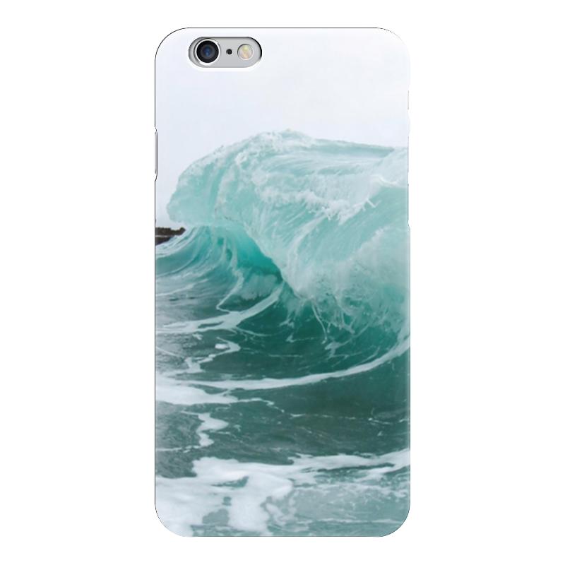 все цены на Чехол для iPhone 6 глянцевый Printio Волна онлайн
