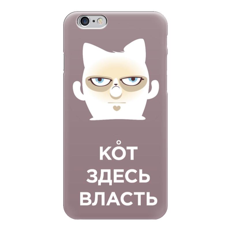 Чехол для iPhone 6 глянцевый Printio Кот здесь власть (грозовое облако) чехол для iphone 6 глянцевый printio кот бу